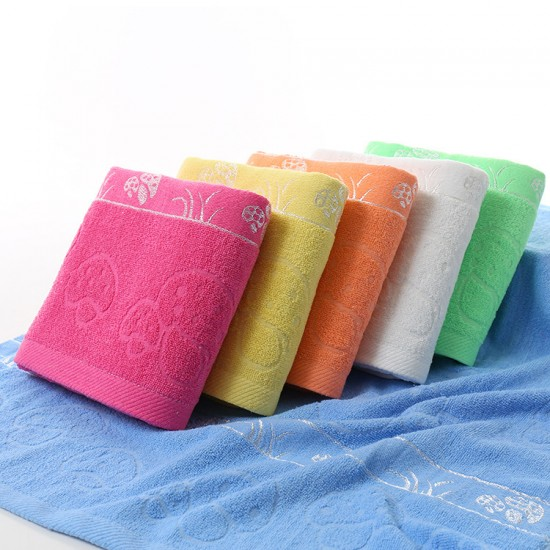 Manufacturers wholesale cotton plain mushrooms off file bath towels, supermarket gifts run the rivers and lakes wholesale one drop-off