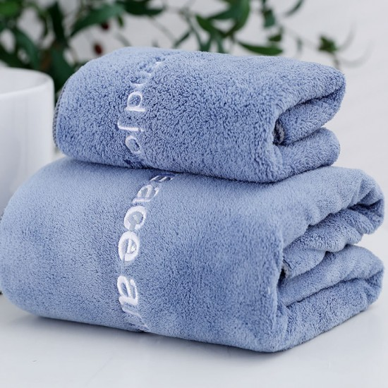 Adult bath towel 70*140 coral velvet thickened hotel bath towel microfiber towel absorbent and quick-drying children's bath towel