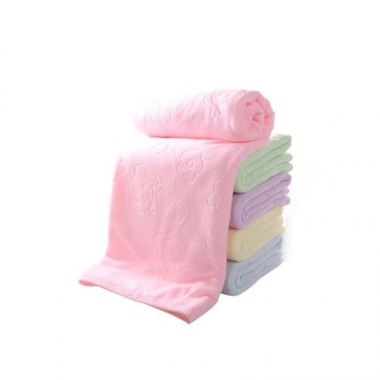 Manufacturers wholesale 70 * 140 embossed towel microfiber bath towel home daily bath towel custom