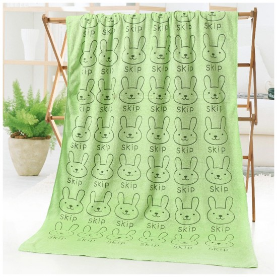 Cartoon Printed Bath Towel Microfiber Polyester Polyamide 300g 70*140 Beach Towel Absorbent Swimming Towel Wholesale